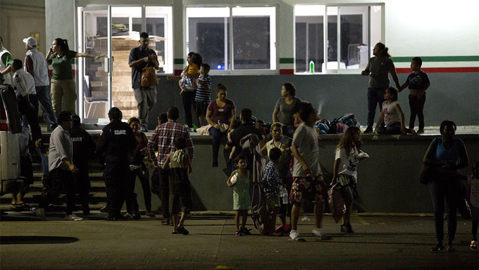 Migrants wait for their transfer from an immigration detention center in Tapachula, Chiapas state, Mexico, on Thursday. Photo:  AP via Fox News