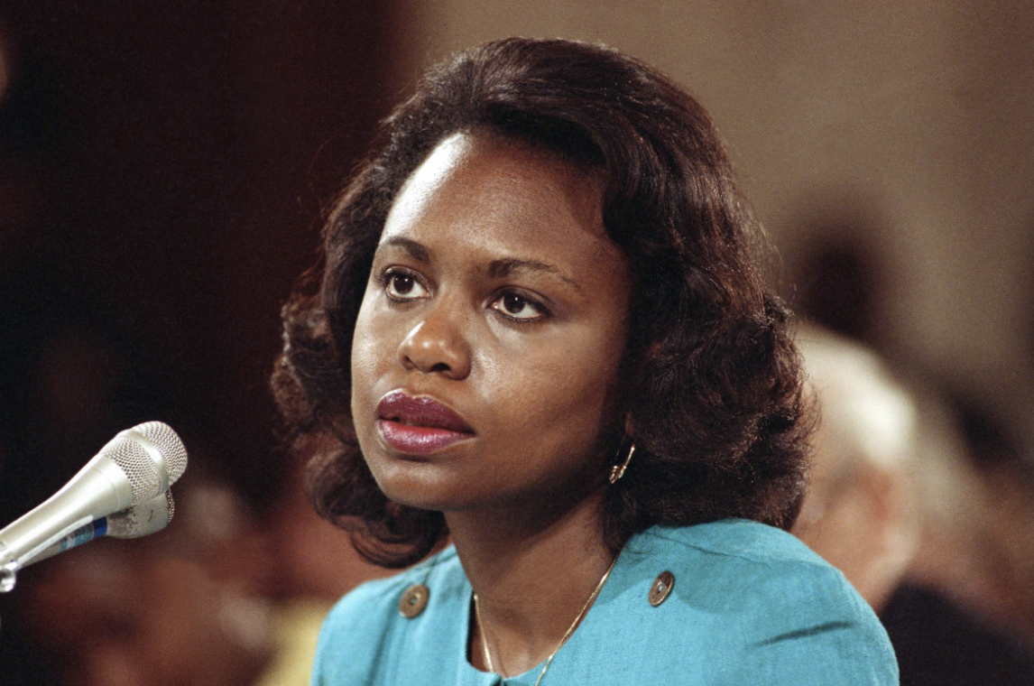 In light of the #MeToo movement, Biden's handling of Anita Hill's testimony has raised concerns. Photo: Greg Gibson/ AP Photo