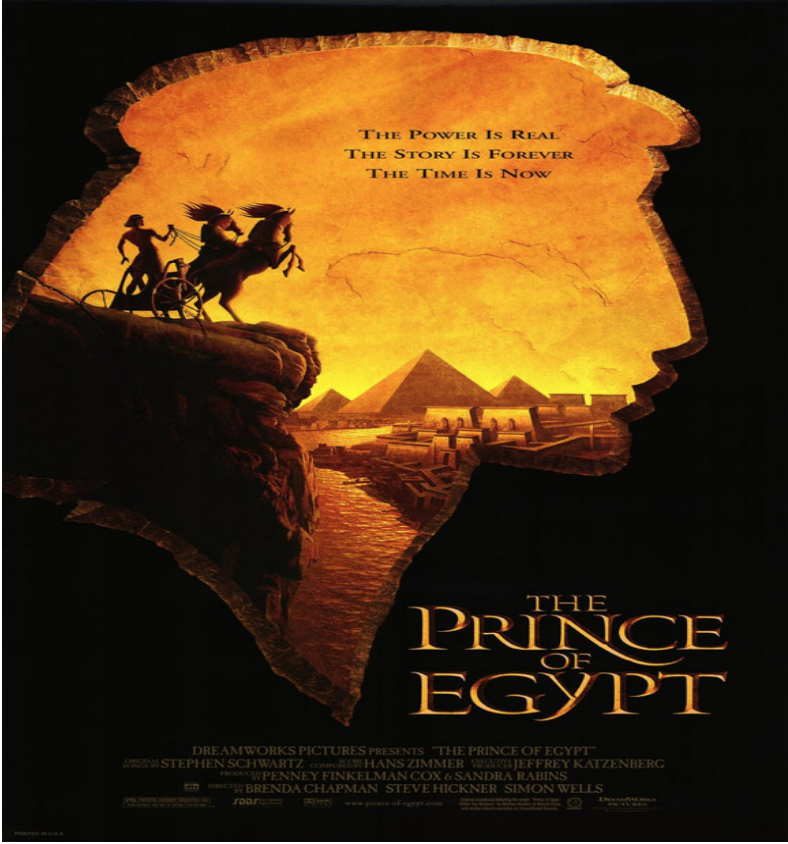 """Theatrical poster for """"The Prince of Egypt."""" Photo:  IMDb"""