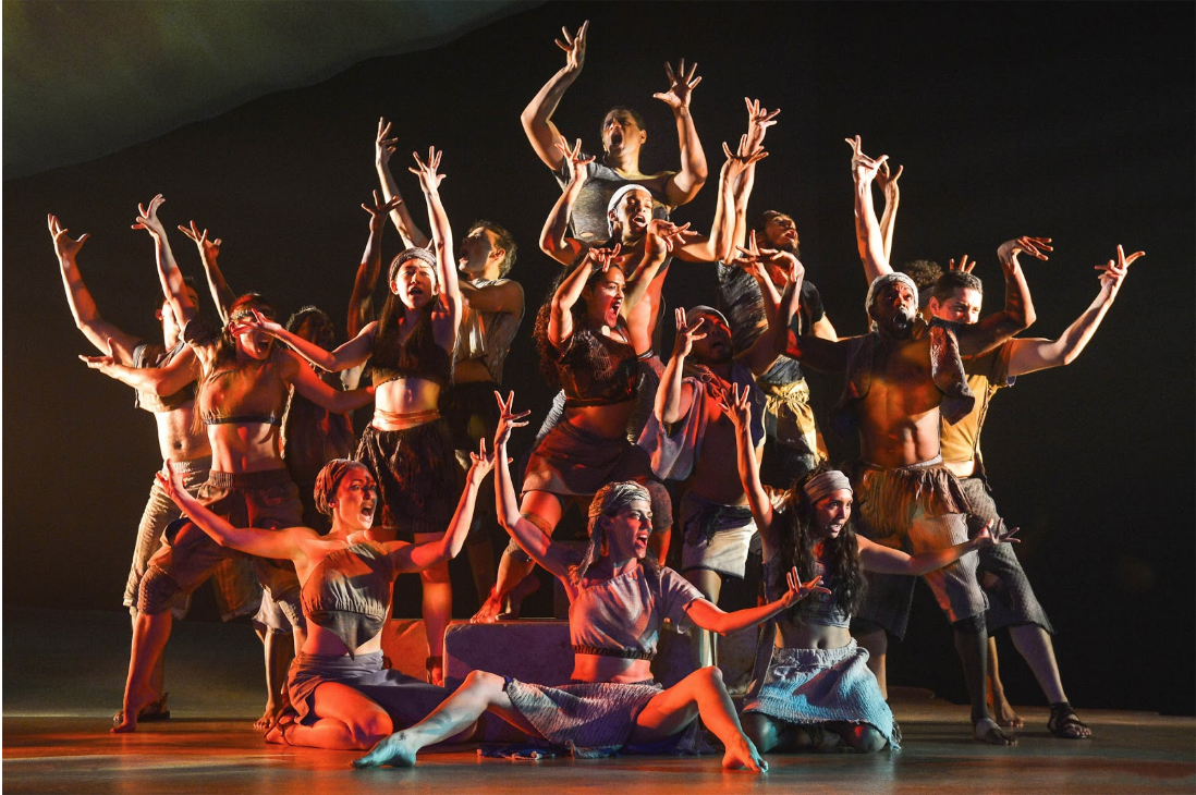 The cast of the San Francisco show during a performance. Photo:  Playbill