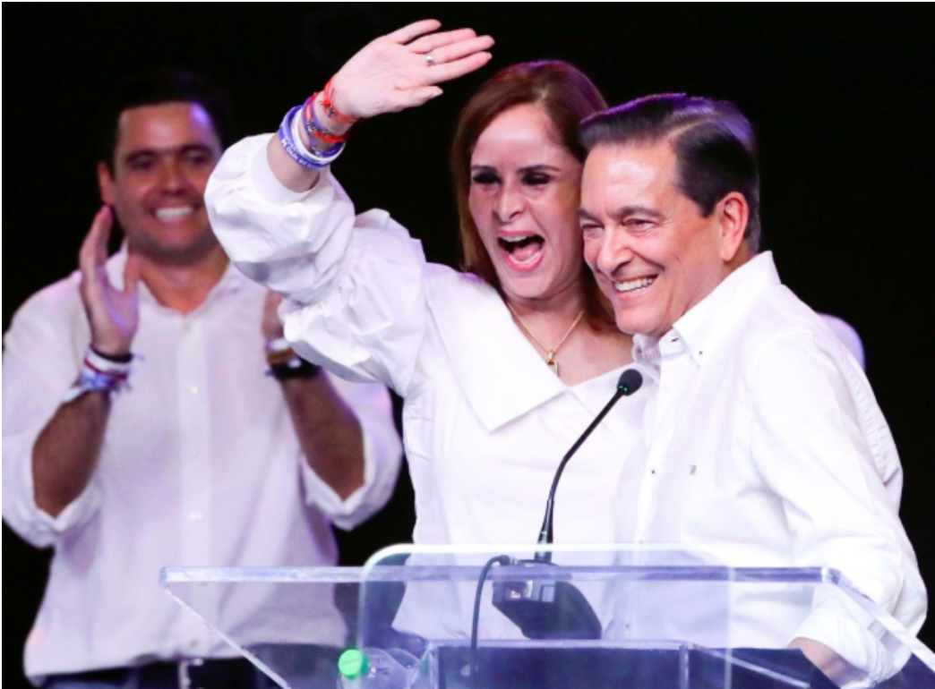 President-elect Cortizo with his wife, future First Lady Yazmin Colón. Photo: Carlos Jasso/ Reuters