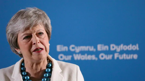 British Prime Minister Theresa May's Conservative Party suffered major losses in local elections on Thursday from voters exasperated with Brexit. Photo: Aaron Chown/PA via  AP