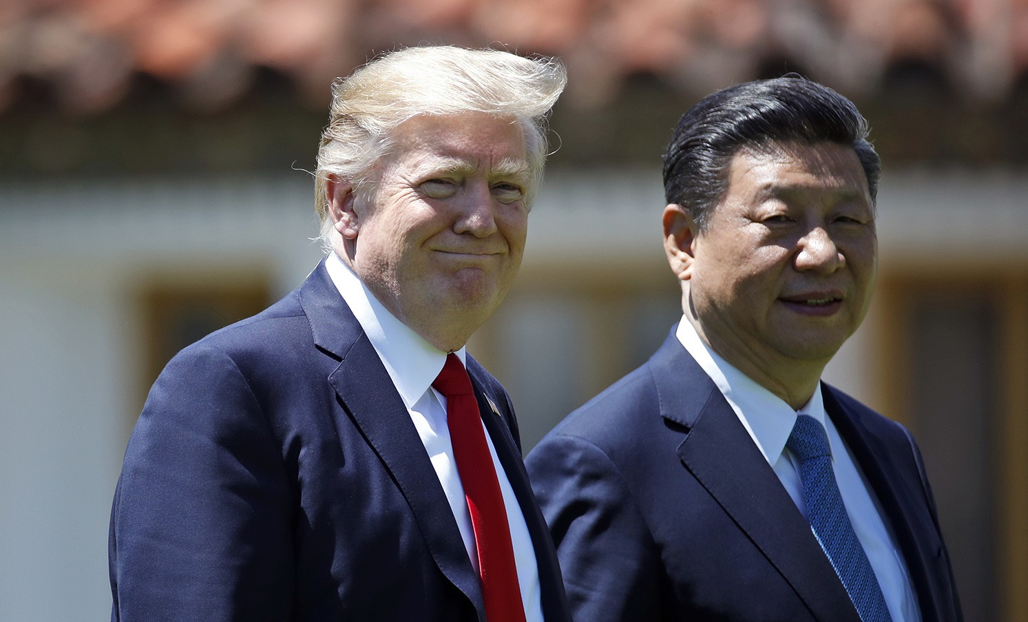 President Trump meets with Chinese Premier Xi Jinping at his Home in Mar-a-Lago, Florida in April of 2017  Photo:  Alex Brandon/AP Photo