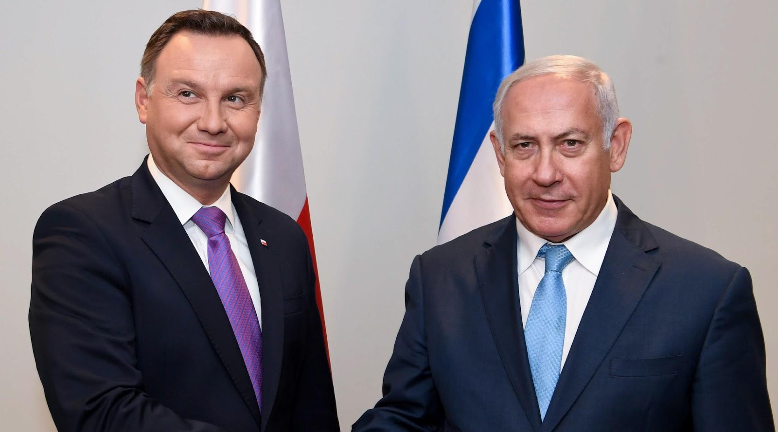 Polish President Andrezj Duda and Israeli Prime Minister Benjamin Netanyahu. Photo Source:    jta.org via GPO