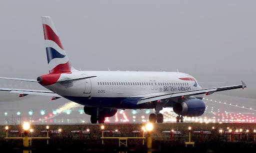 A British Airways plane departs from London Heathrow Airport. Photo: Gareth Fuller /  PA