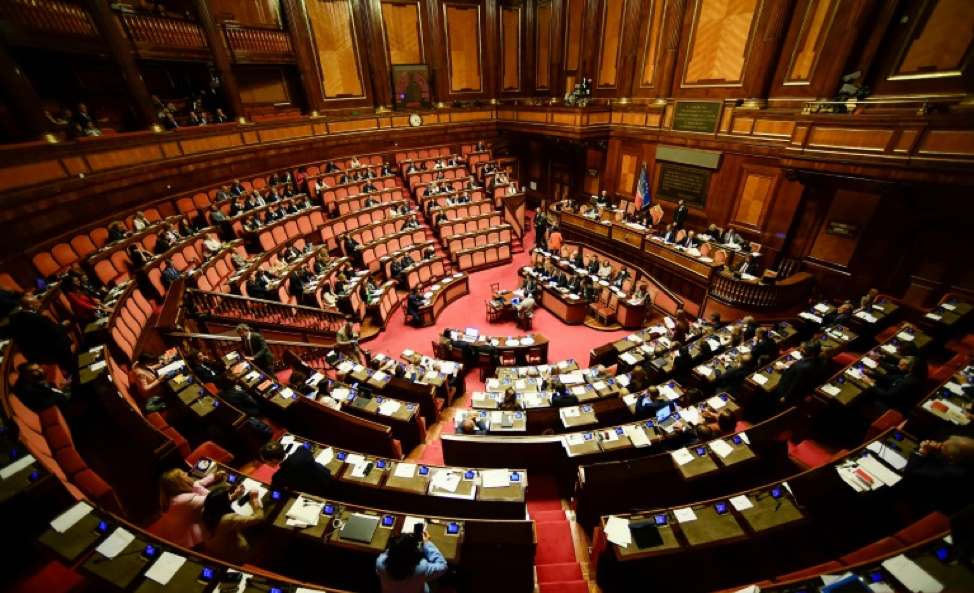 A view of the Lower House of the Italian Parliament  Photo:  AFP/File Photo
