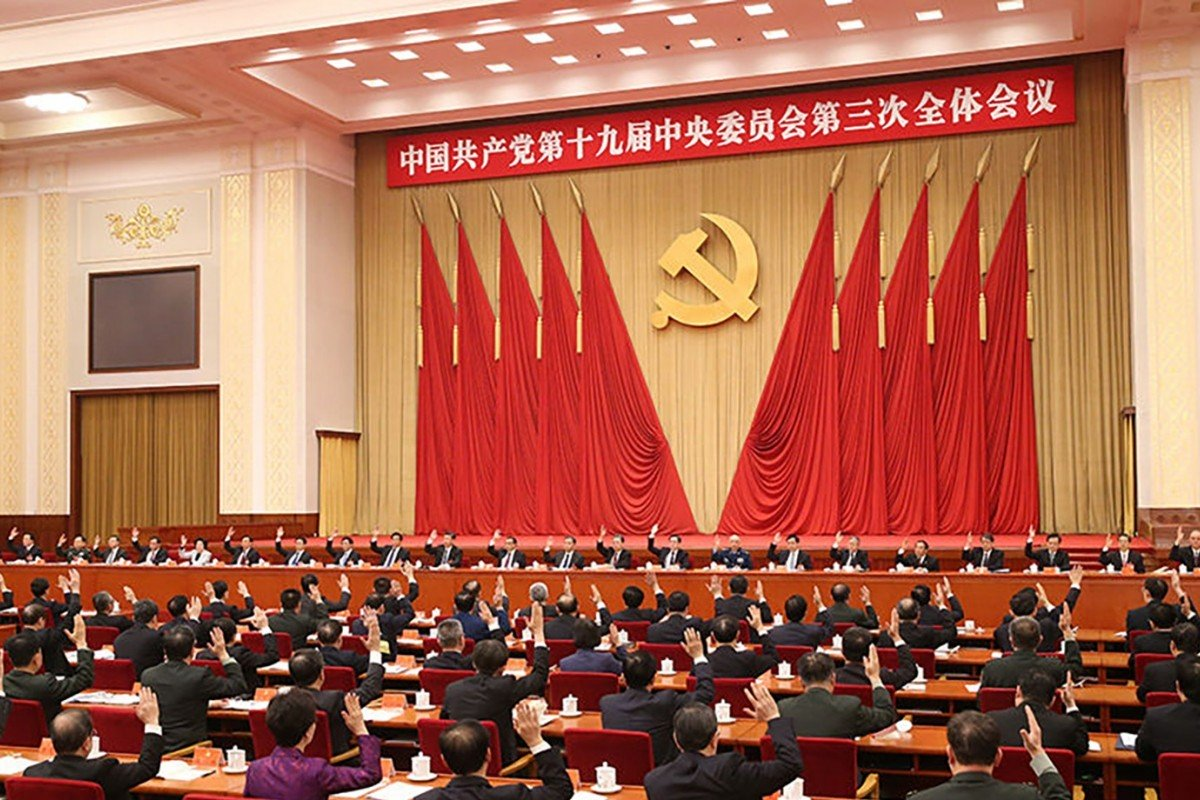 The Communist Party's Central Committee meets in Beijing. Photo:  Xinhua