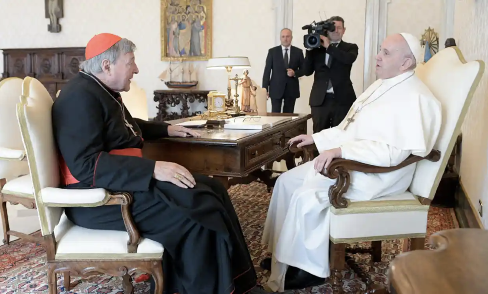 Pope Francis and Cardinal Pell's First Meeting Since Cardinal's Abuse Acquittal — IR INSIDER