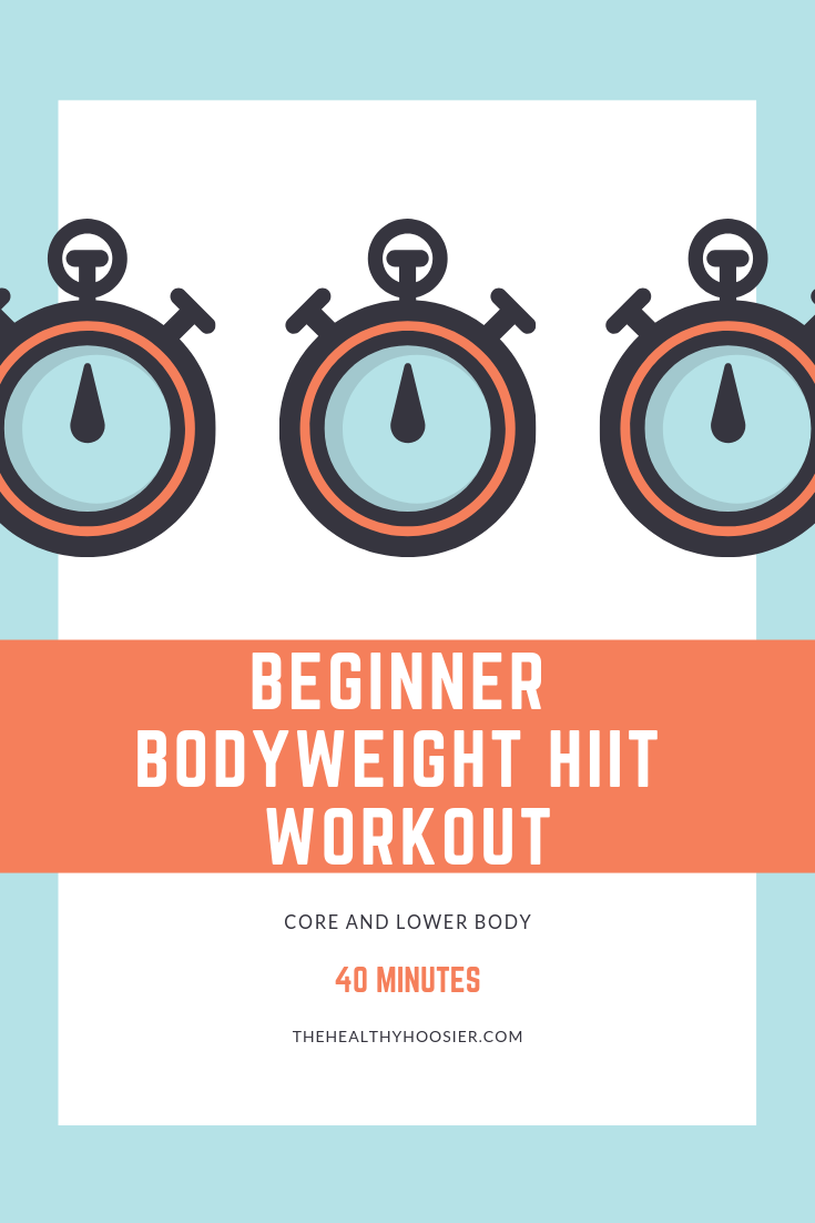 No equipment needed: beginner bodyweight core and lower body HIIT workout  | The Healthy Hoosier