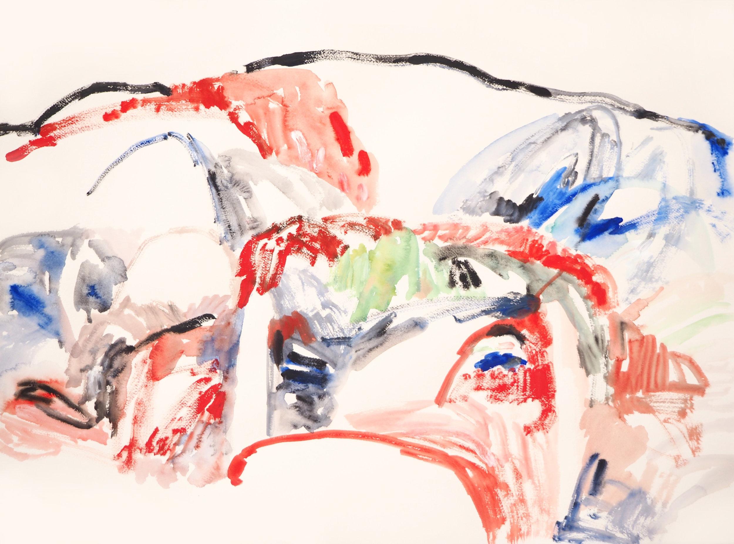 Mparntwe III , 2017 Acrylic on paper 56 x 76 cm