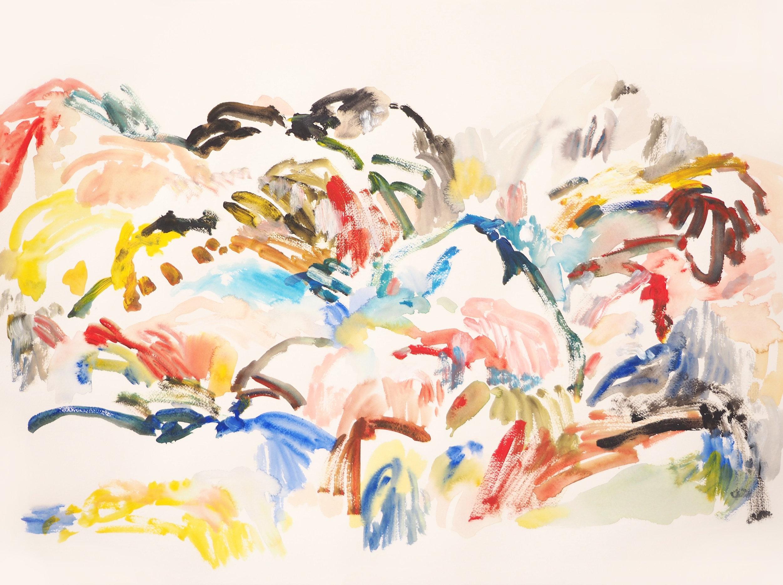 Mparntwe IV , 2017 Acrylic on paper 56 x 76 cm