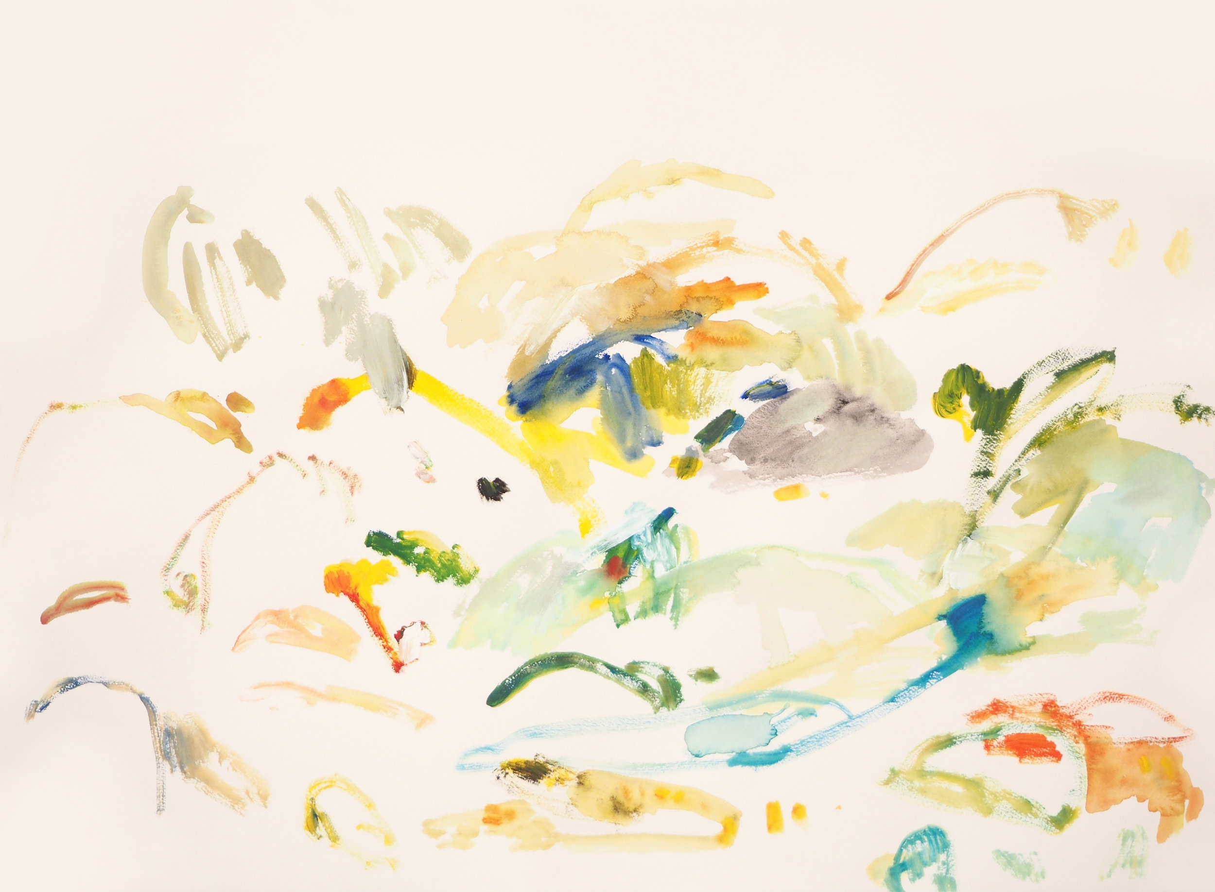 Mparntwe VI , 2017 Acrylic on paper 56 x 76 cm