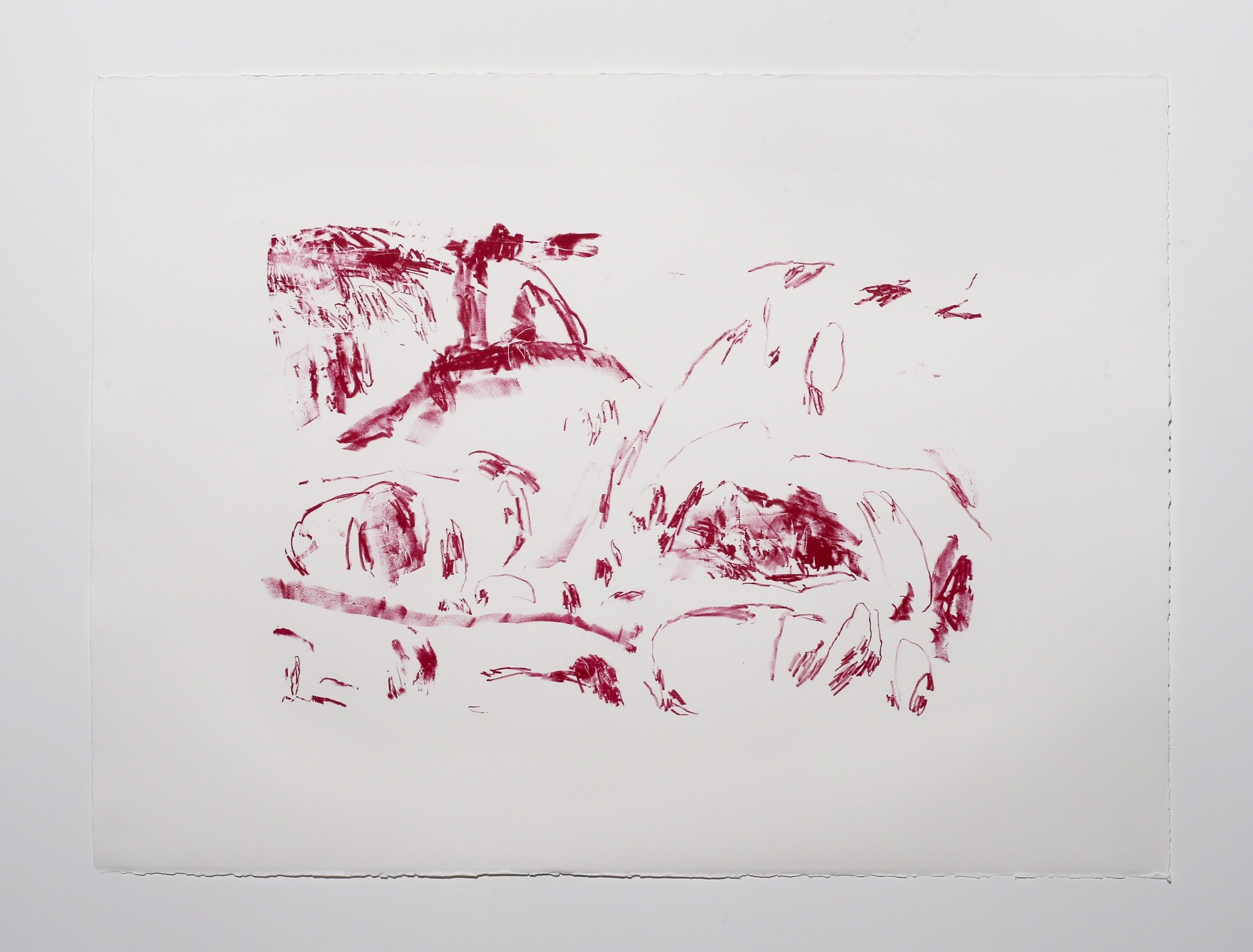Scene I , 2019, lithograph on paper, 56 x 76 cm (paper size) Edition of 1 $275