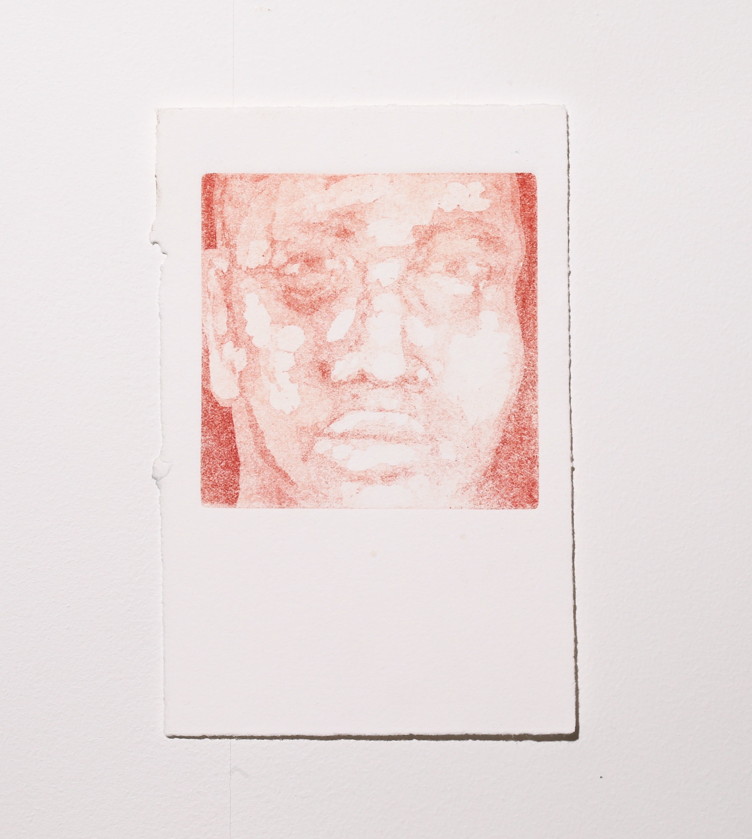 Face (stage 2) , 2019, aquatint, 9.5 x 10 cm (plate size), $60