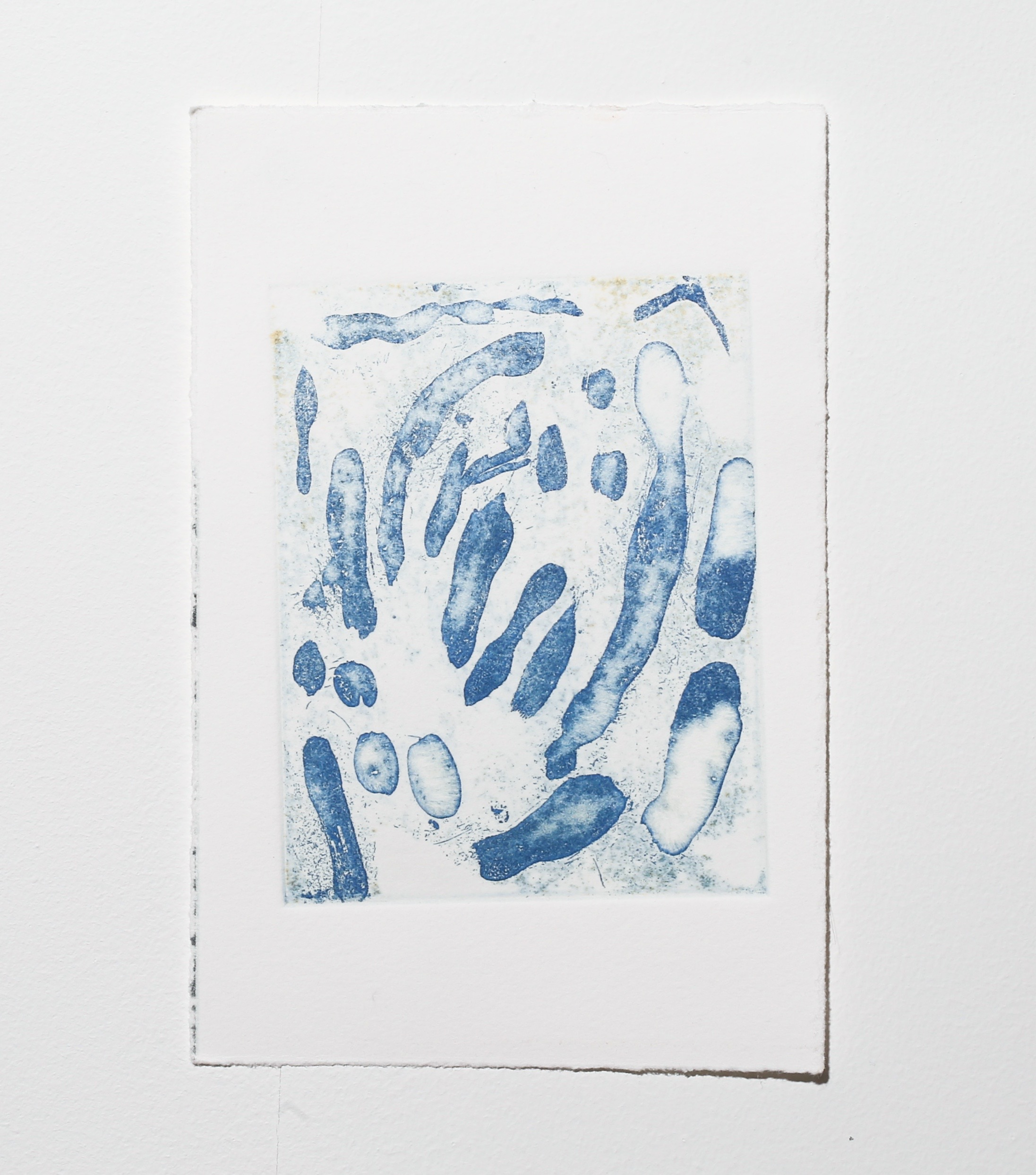 Deep (blue) , 2019, sugar lift etching, 11.5 x 9 cm (plate size), $65