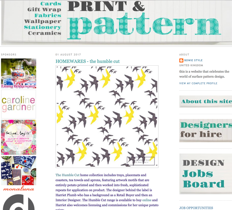 Print & Pattern feature Aug 2017