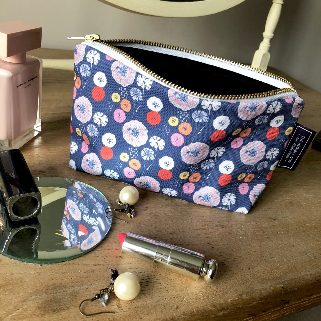 Midnight Poppy Cosmetic Bag The