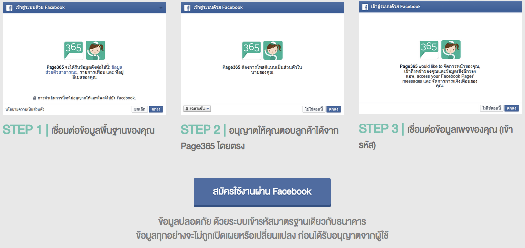 Page365 - Facebook Permissions