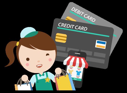 ลูกค้าจ่ายได้หลายช่องทาง - เพิ่มช่องทางชำระค่าสินค้าด้วยบัตรเดบิต/เครดิตและธนาคารออนไลน์ ลูกค้าจ่ายง่ายเพียงกรอกเลขบัตรก็จ่ายได้เลย ลดโอกาสเปลี่ยนใจ สำหรับร้านใหม่ฟรีค่าธรรมเนียมสูงสุด 10,000 บาทแรก (หลังจากนั้นเพียง 3.6%) สมัครง่าย แค่ถ่ายรูปสมุดบัญชีสำหรับรับเงิน