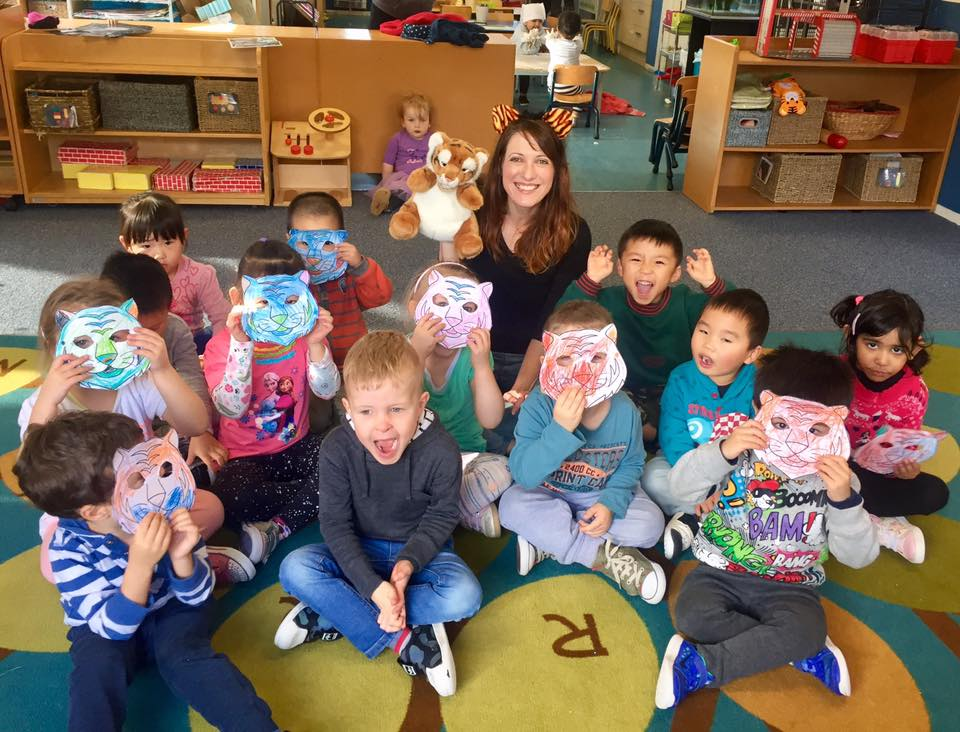 Teacher,  Dawn Glover , and Our Lil' Lantern students at 1 + 1 Preschool.