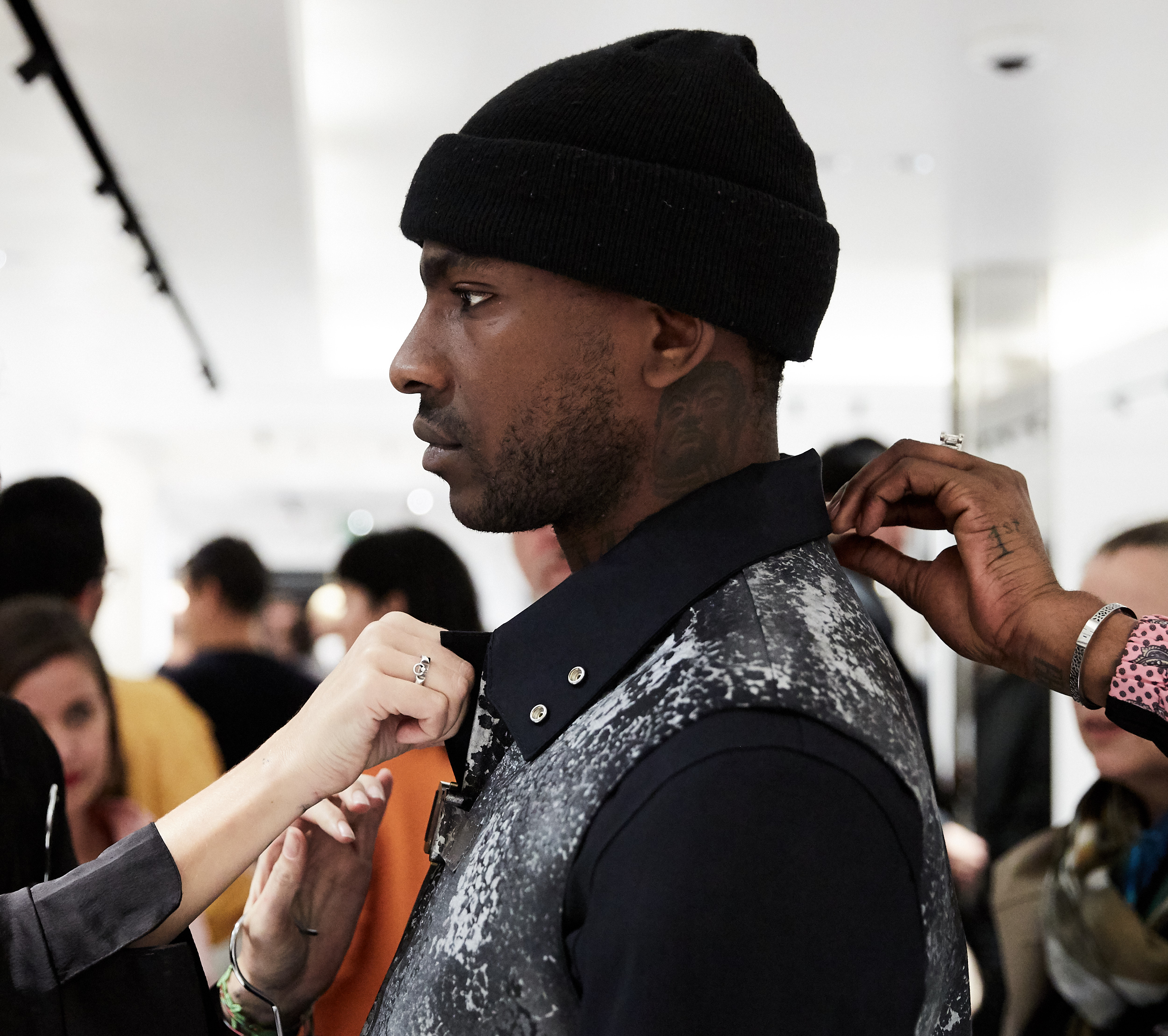 Skepta at ALYX x Mackintosh Launch