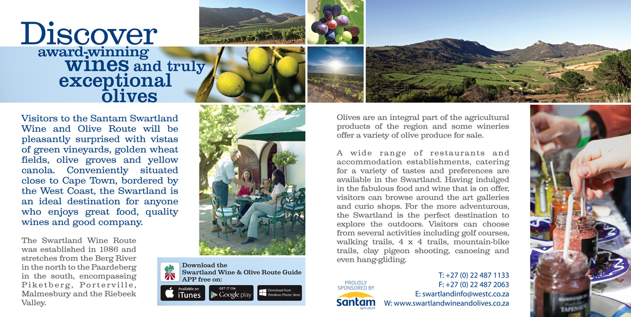 Advertisement -    Swartland Wine & Olive Route