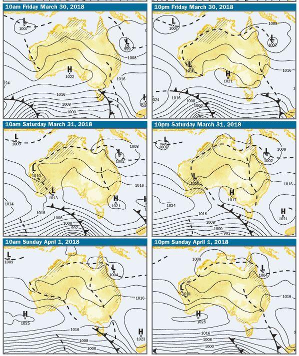 BOM weather chart