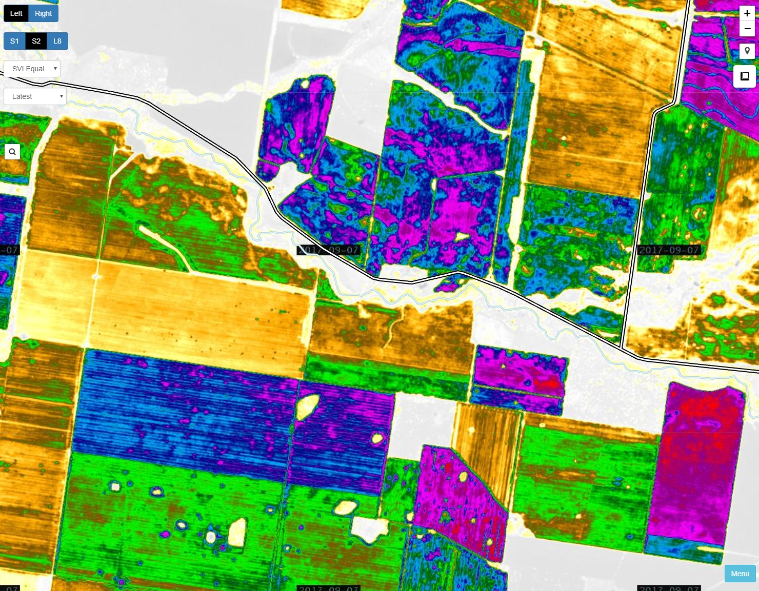 Easily pan around and find the paddocks you are looking for. No paddock boundaries required.