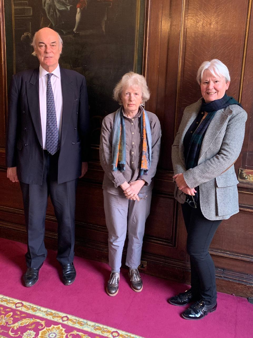 (L-R) Guy Heald, Jane Maxim, Elizabeth Stanton