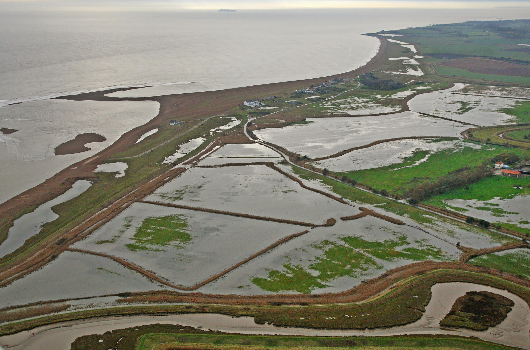 The aftermath of the tidal surge at Shingle Street, December 2013  Photo credit: Mike Page