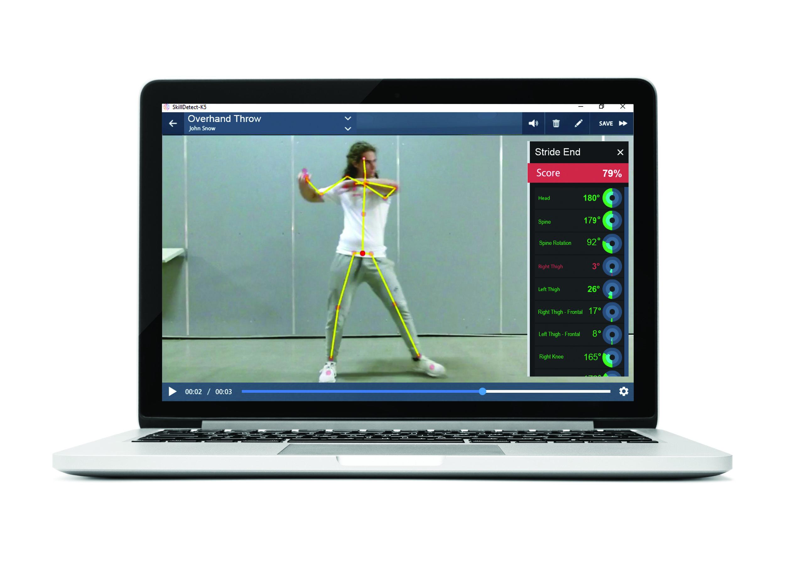 Physical Education Throwing Test Screenshot