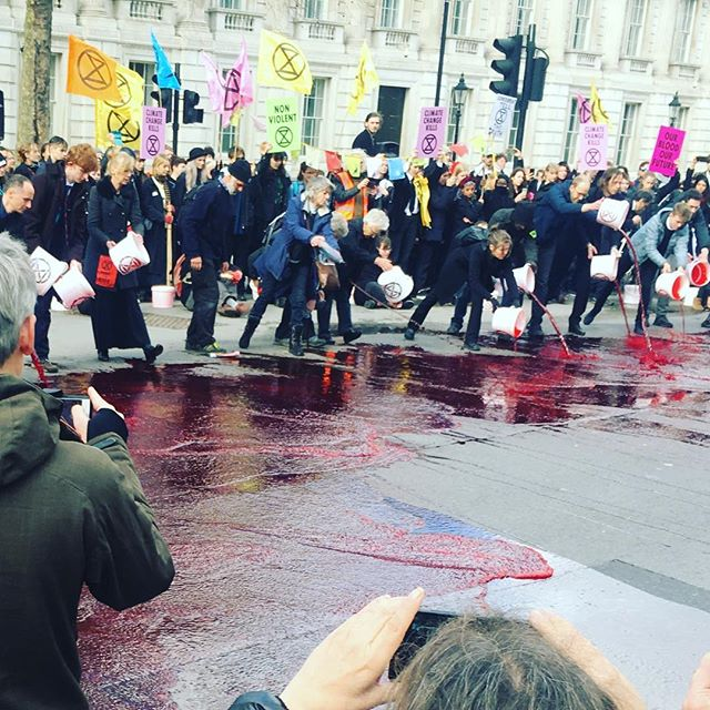 #extinctionrebellion #blood #downingstreet #climatechangekills