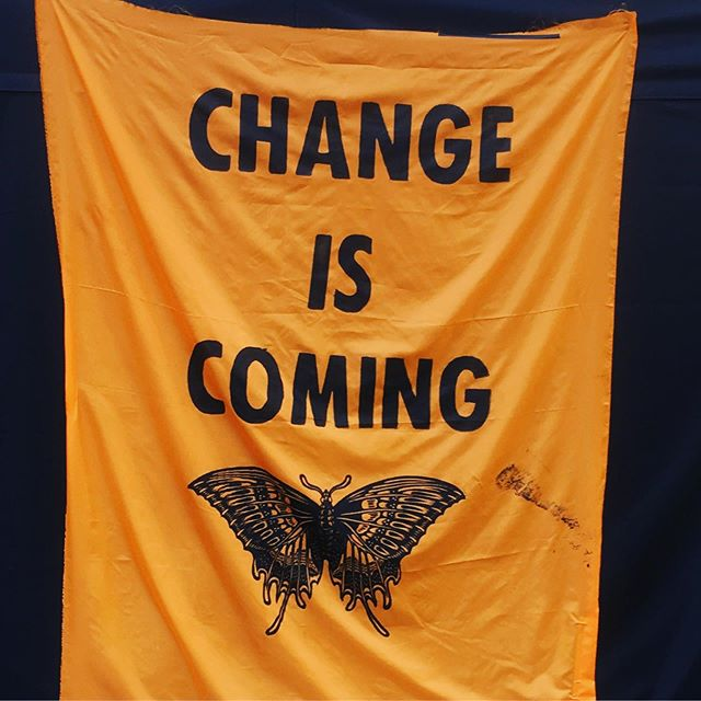 #changeiscoming #extinctionrebellion it's an end and a beginning 🌏✊💕⛵️🐝🥰
