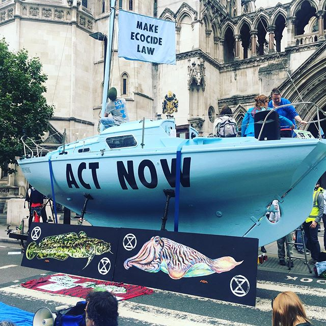 #extinctionrebellion #actnow #pollyhiggins #ecocide #earthprotectors #royalcourstsofjustice