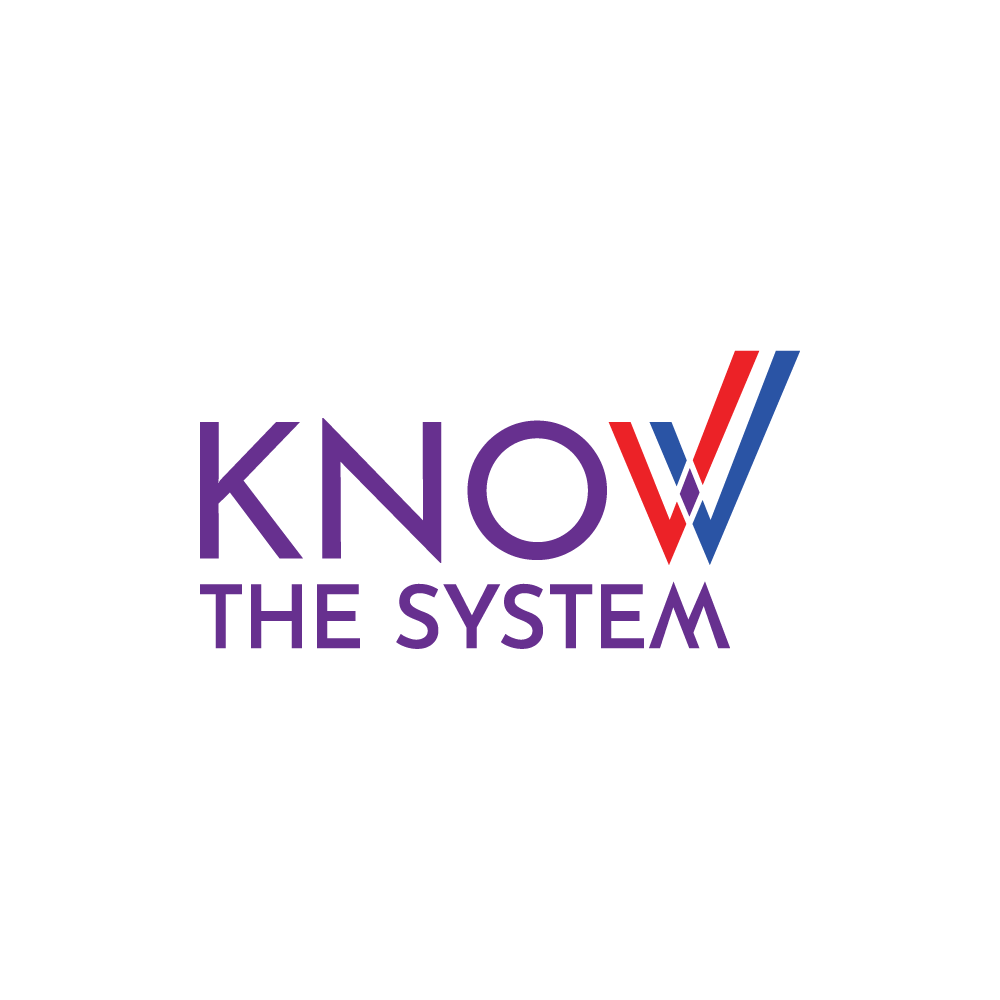 Know the System logo - Know The System is a bipartisan organization dedicated to elevating public understanding and public dialogue, to take democracy in the United States to the next level.https://knowthesystem.org