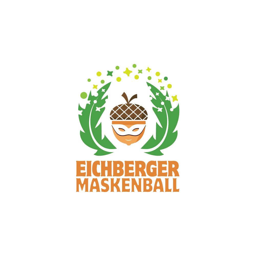 Eichberger Maskenball, a logo for a Swiss Carnival - A small party at swiss carnival. People from their village (age 18 until approx. 45) and villages around come to them masked. At midnight, the best mask wins the price. So it's a party with lots of fun, drinks and confetti. The party is in their school's sports hall which is decorated.