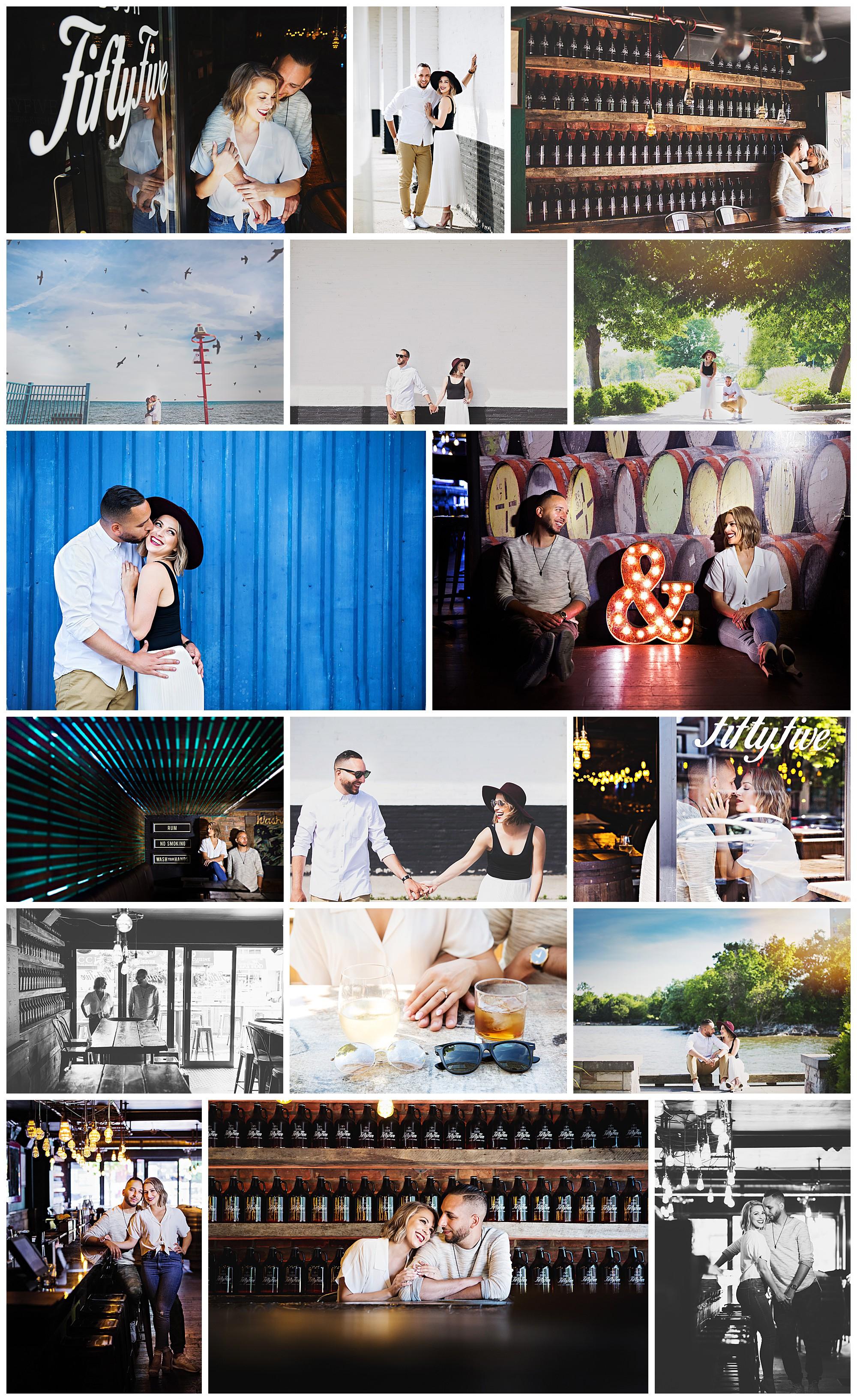Door FiftyFive Pub & Restaurant, Port Credit, Ontario engagement photos by VanDaele & Russell