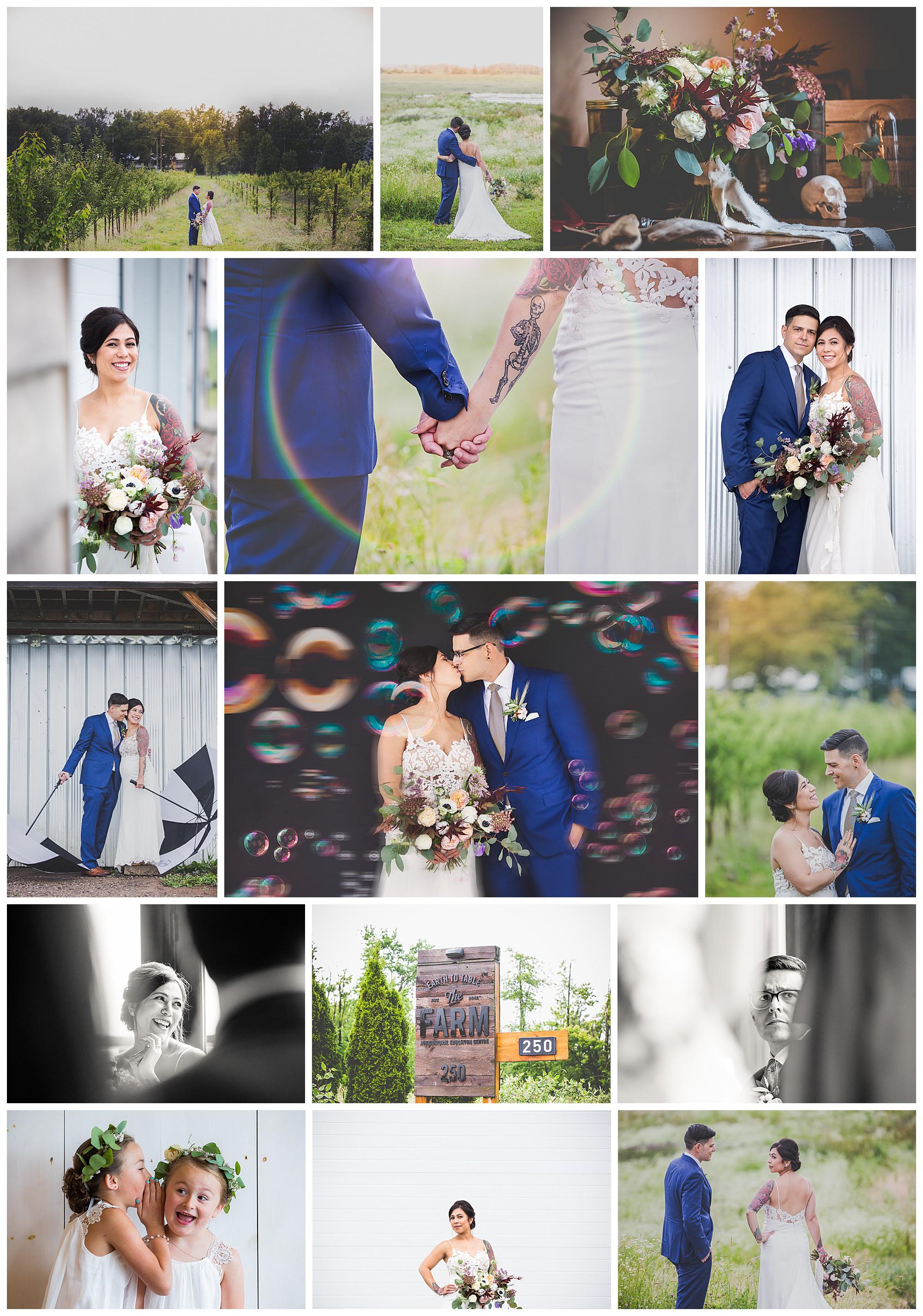 Earth to Table – The Farm, Burlington, Ontario wedding photos by VanDaele & Russell