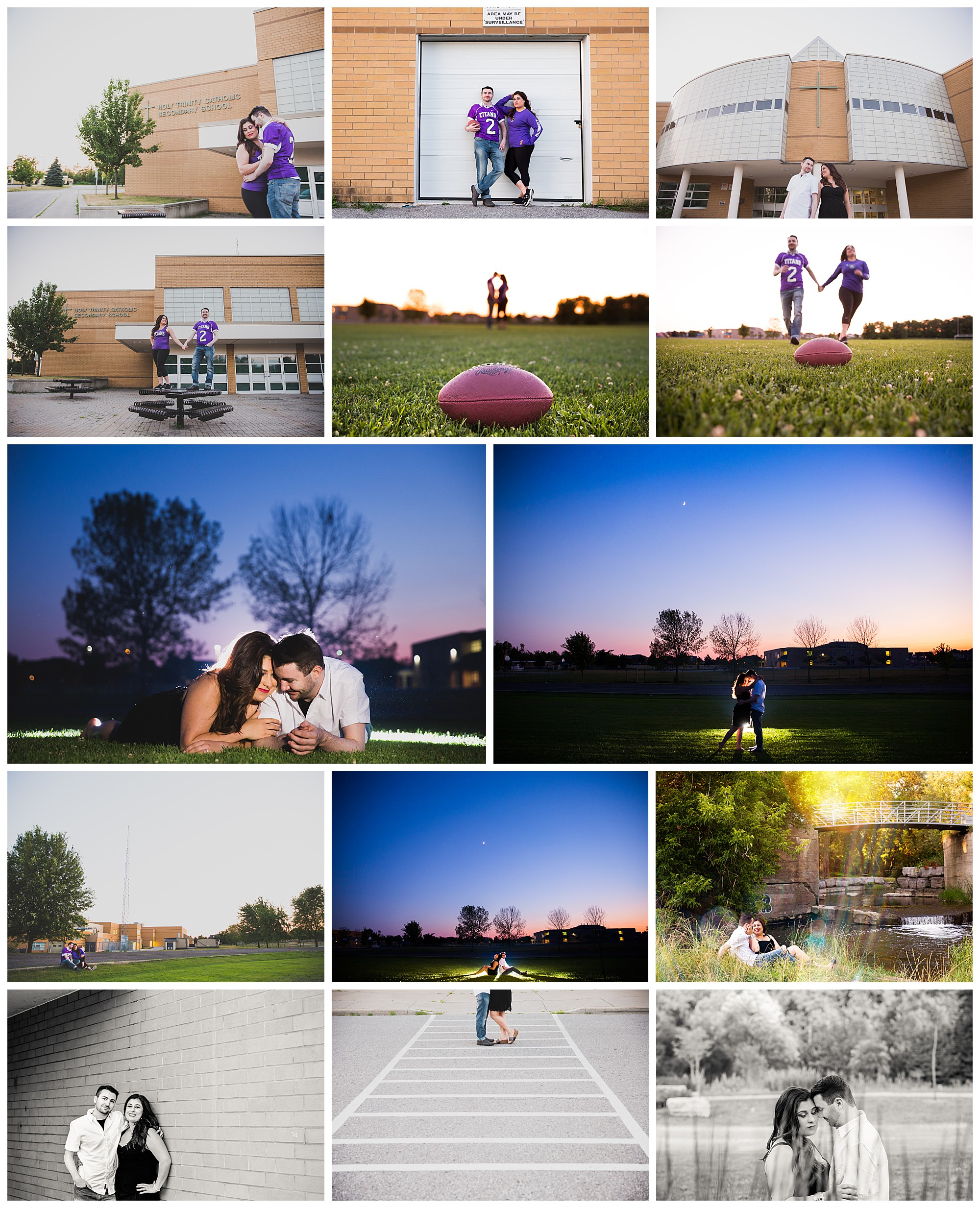 Holy Trinity Catholic School, Courtice, Ontario engagement photos by Van Daele & Russell