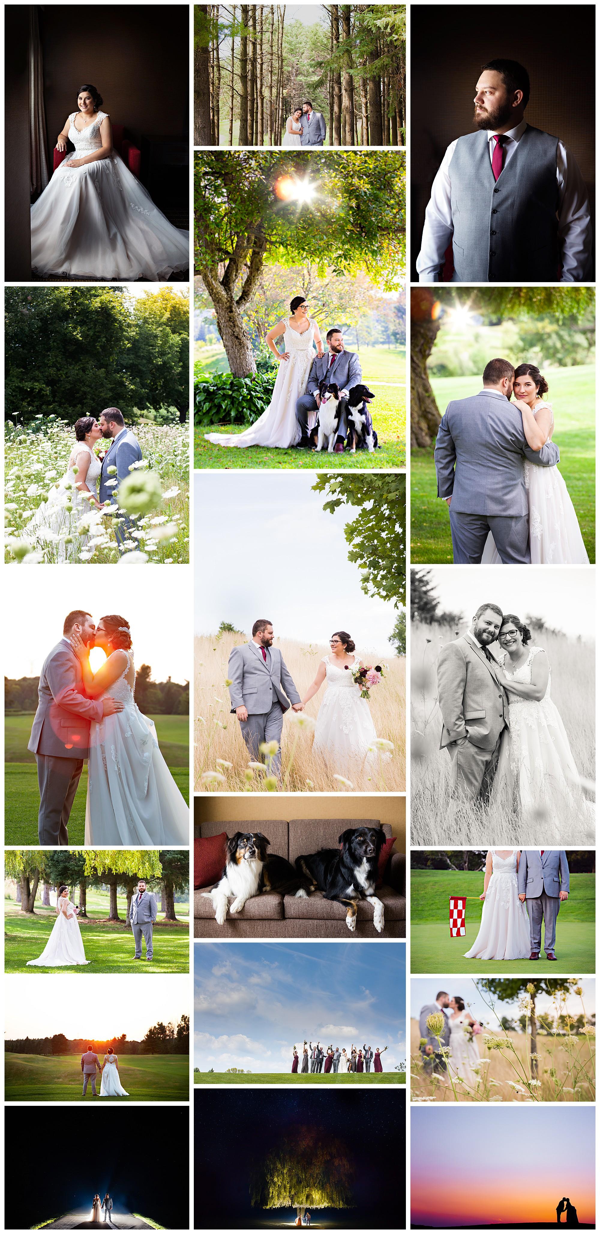 Flamborough Hills Golf & Country Club, Hamilton, Ontario wedding photos by VanDaele & Russell