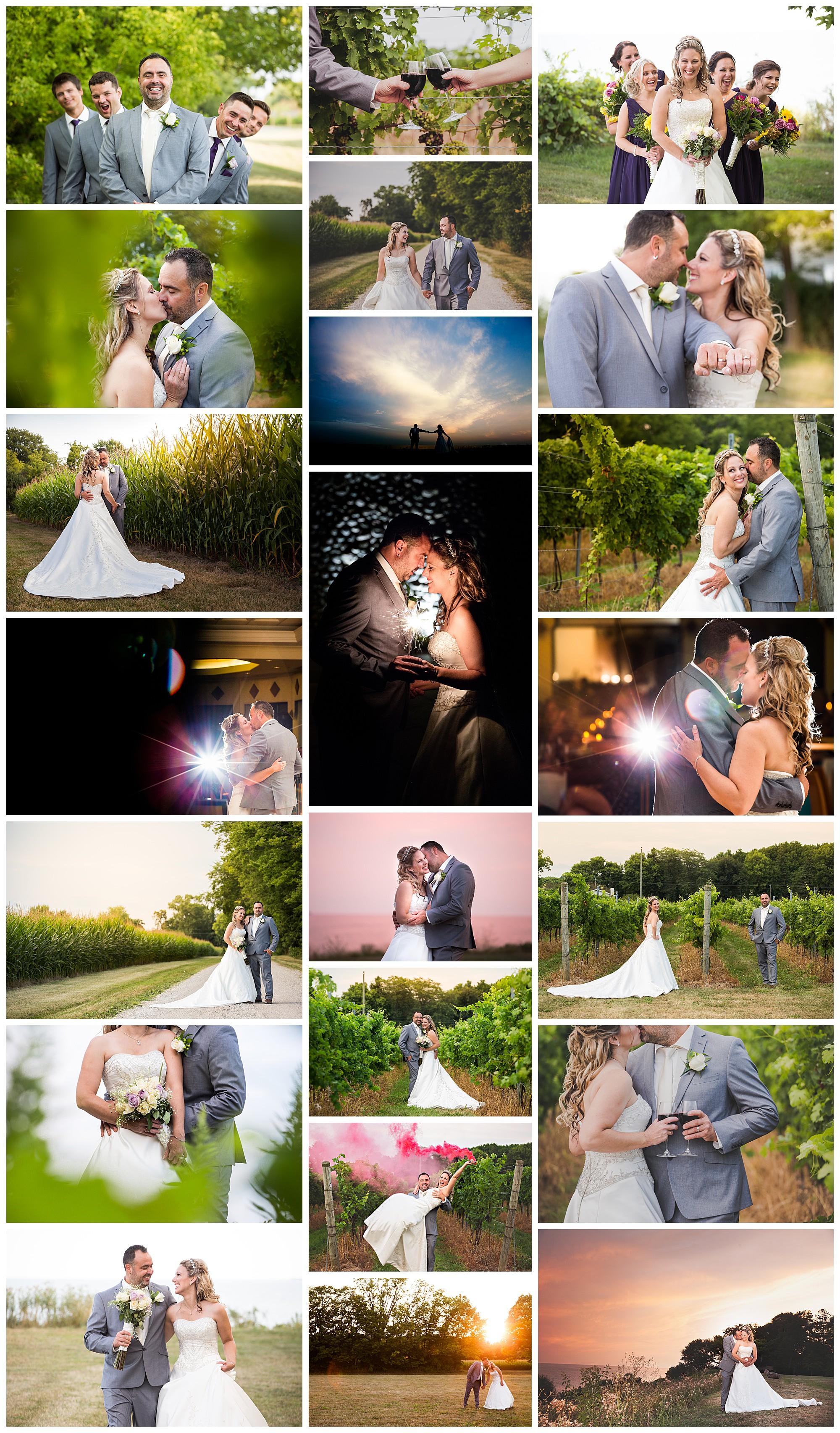 Viewpointe Estate Winery, Harrow, Ontario wedding photos by VanDaele & Russell