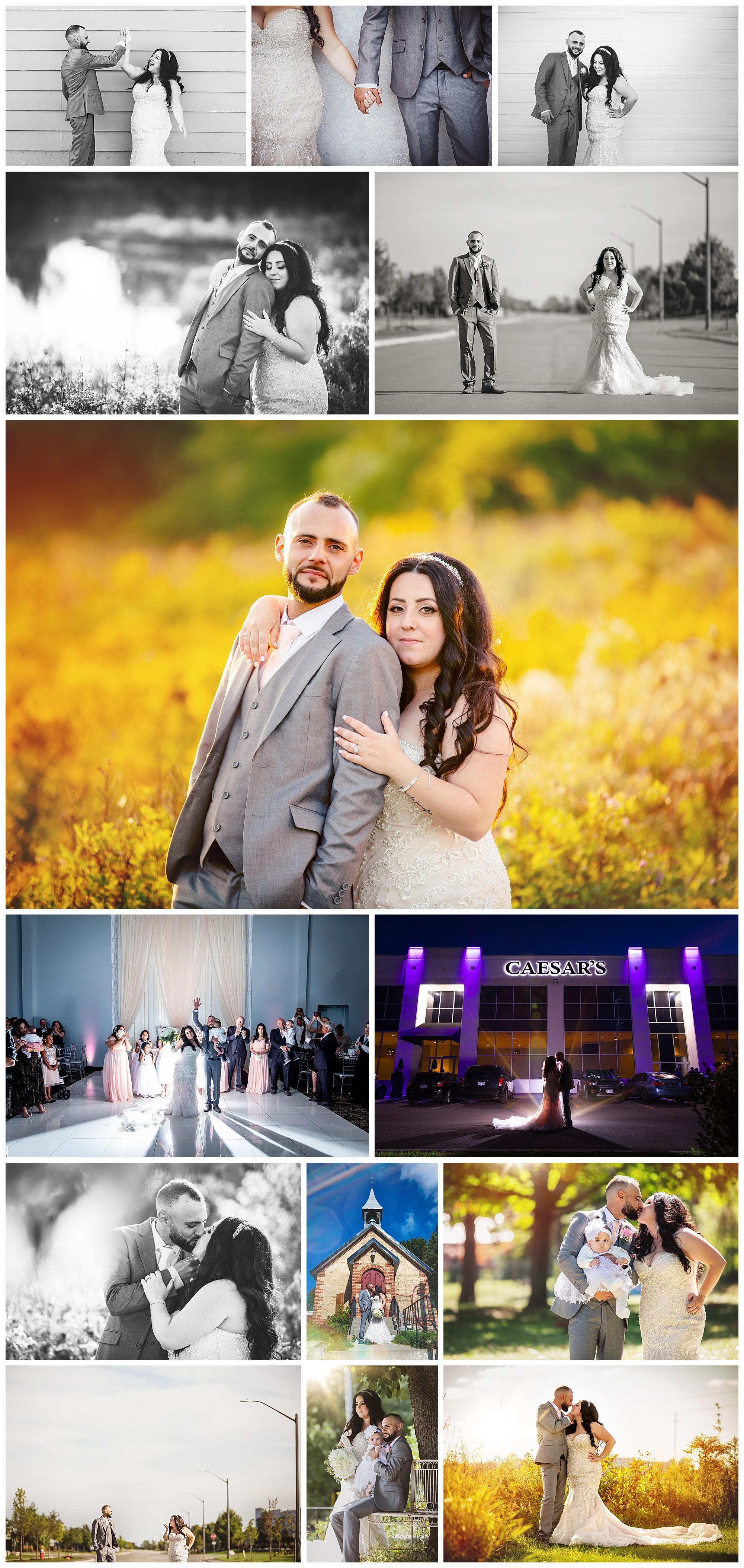 Caesar's Event Space, Bolton, Ontario wedding photography by VanDaele & Russell