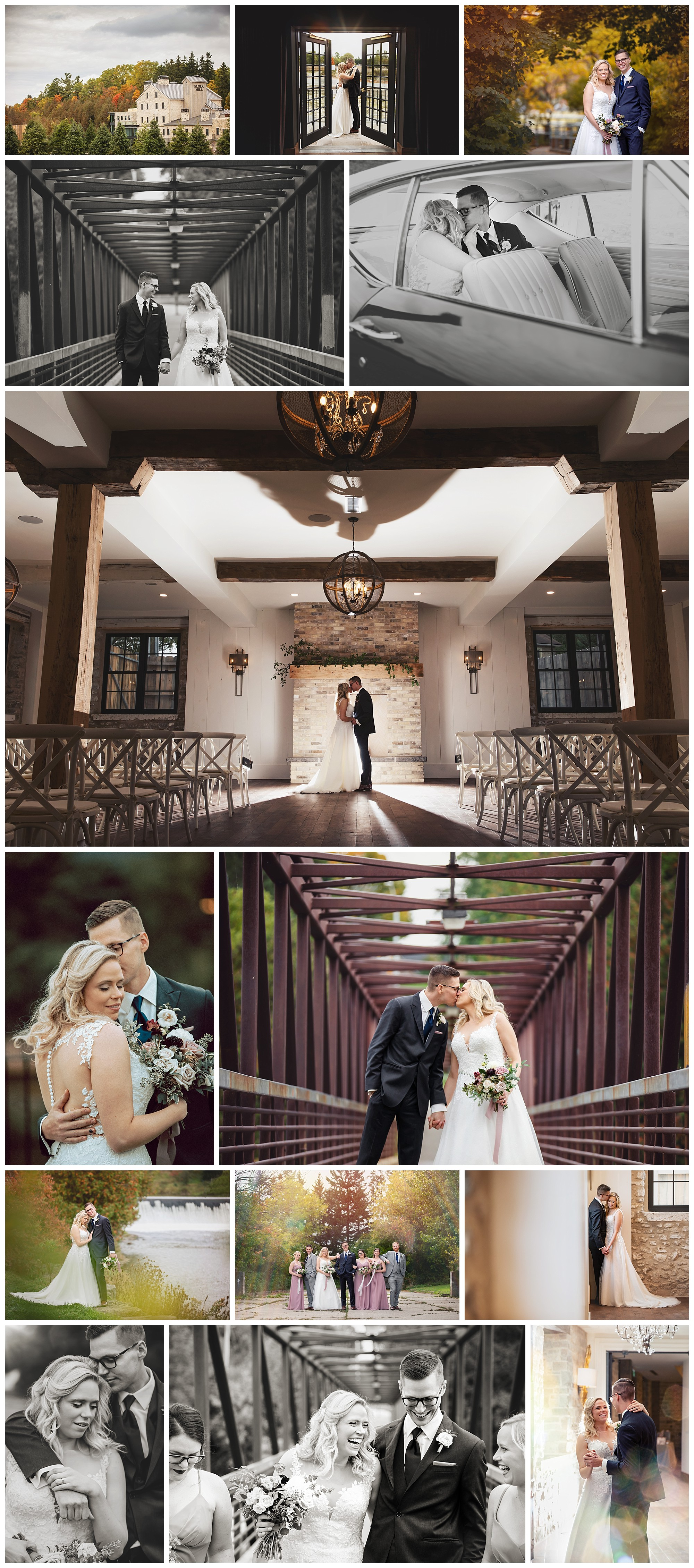 Elora Mill & Spa, Elora, Ontario wedding photography by VanDaele & Russell