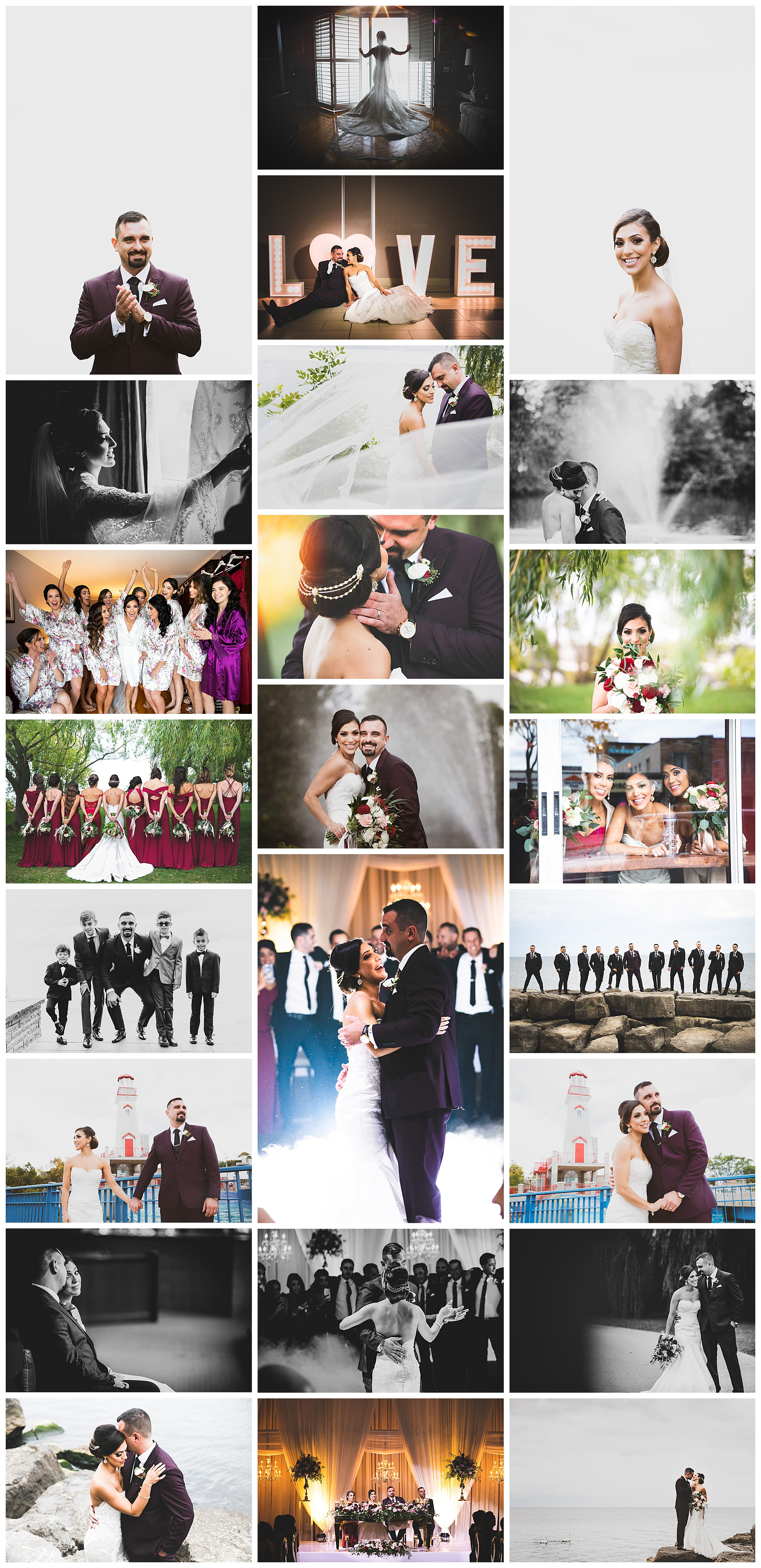 Port Credit & Paramont Event Space, Mississauga, Ontario wedding photography by VanDaele & Russell
