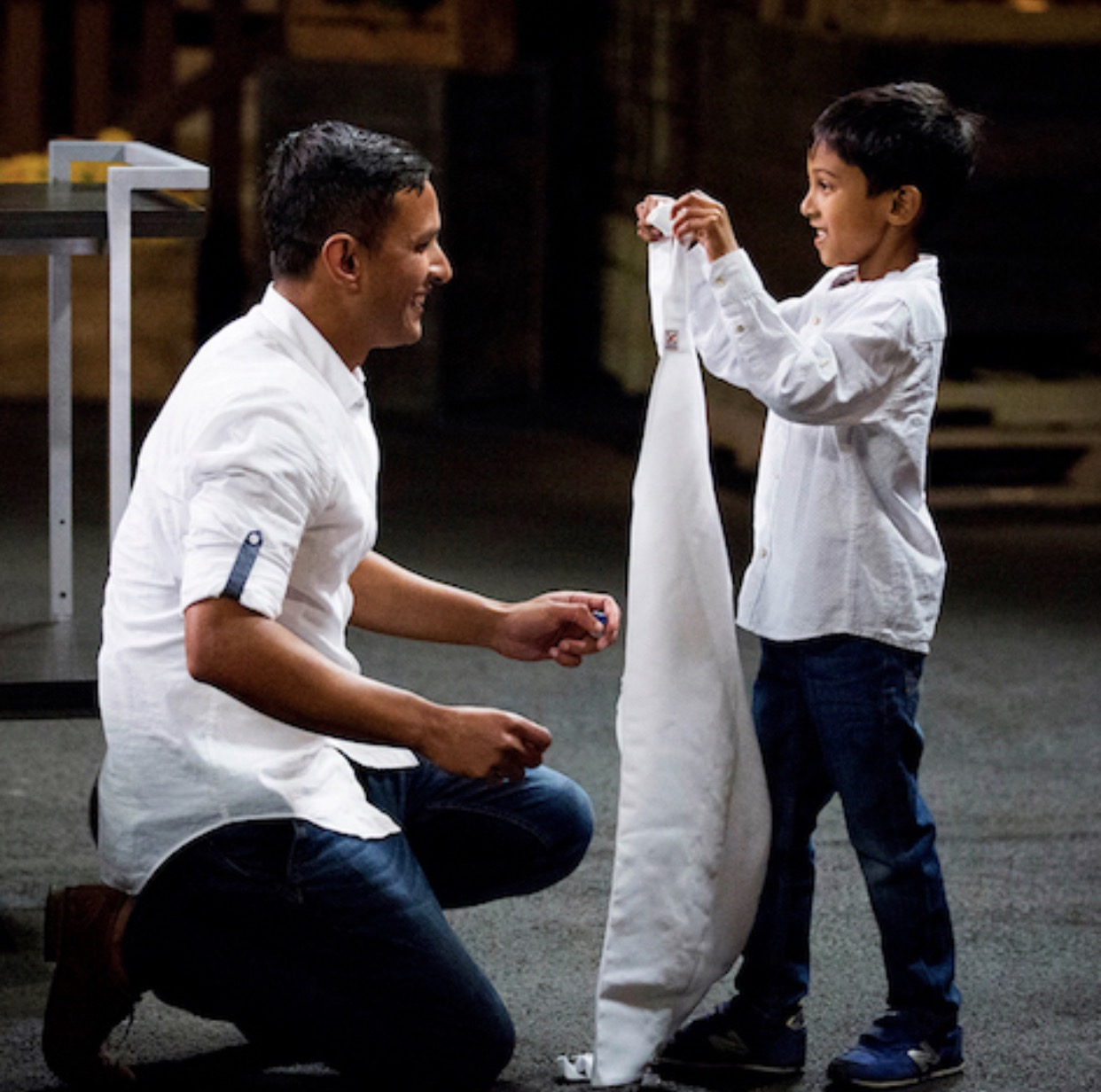 Getting the Masterchef apron from my son was one of the proudest moments of my life! - Click on the picture to read my #MasterchefAU Profile. (Courtesy Channel Ten)