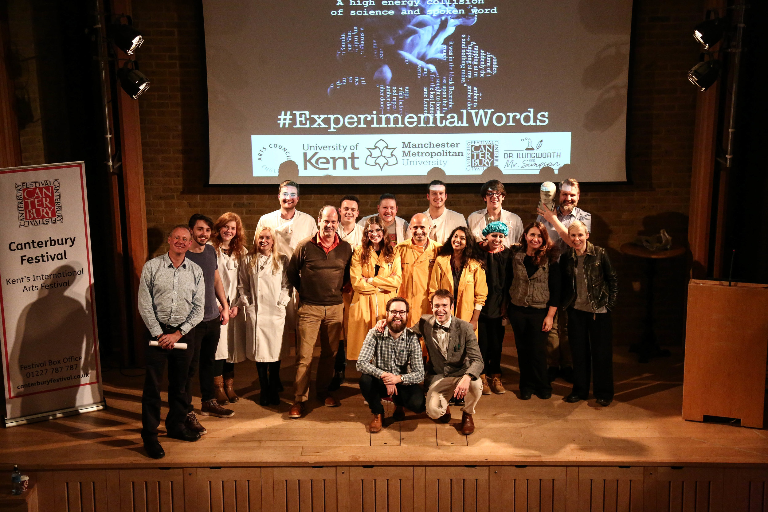 Scientists & Poets from Experimental Words Canterbury - photo from Light Tone Studios.