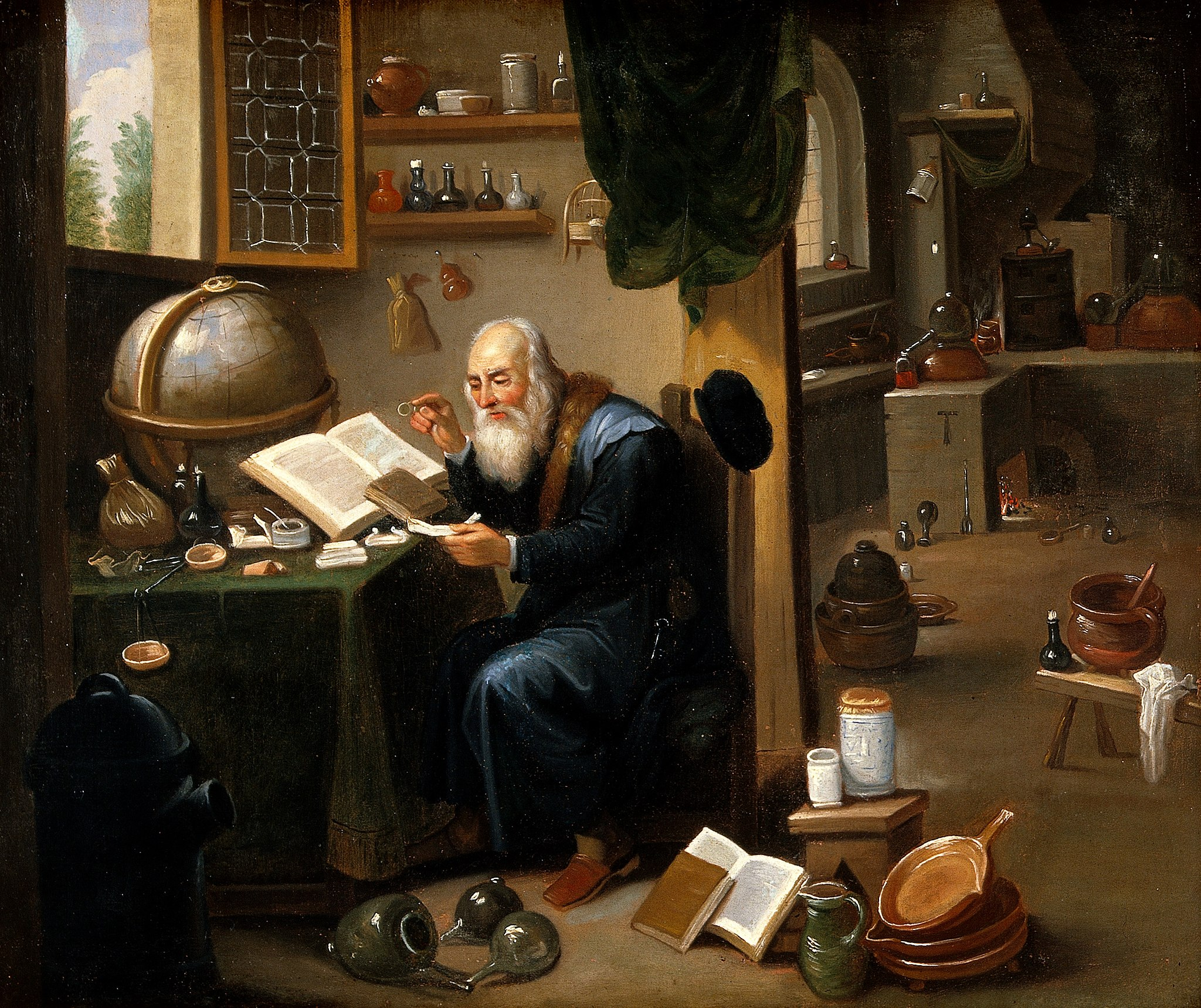 2048px-An_alchemist_in_his_laboratory._Oil_painting_by_a_follower_o_Wellcome_V0017631.jpg
