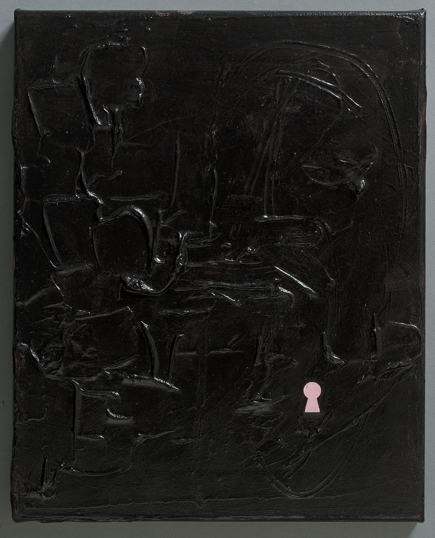 Slit Scenes | 2011 | Acryl und Öl auf Leinwand | 40 x 32 cm | Acryl und Öl auf Leinwand