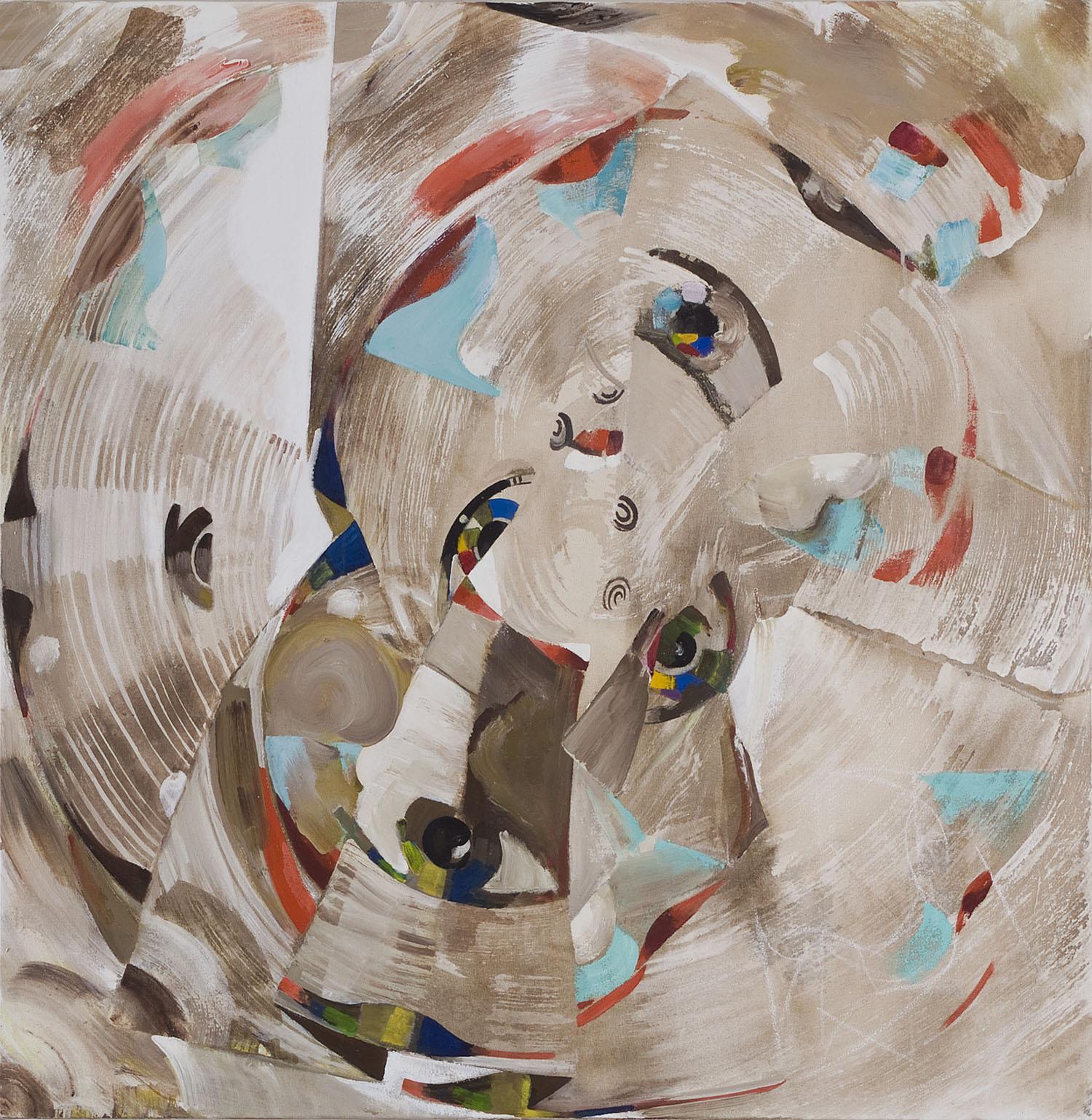 o.T. | Acryl auf Leinwand | 101 x 101 cm
