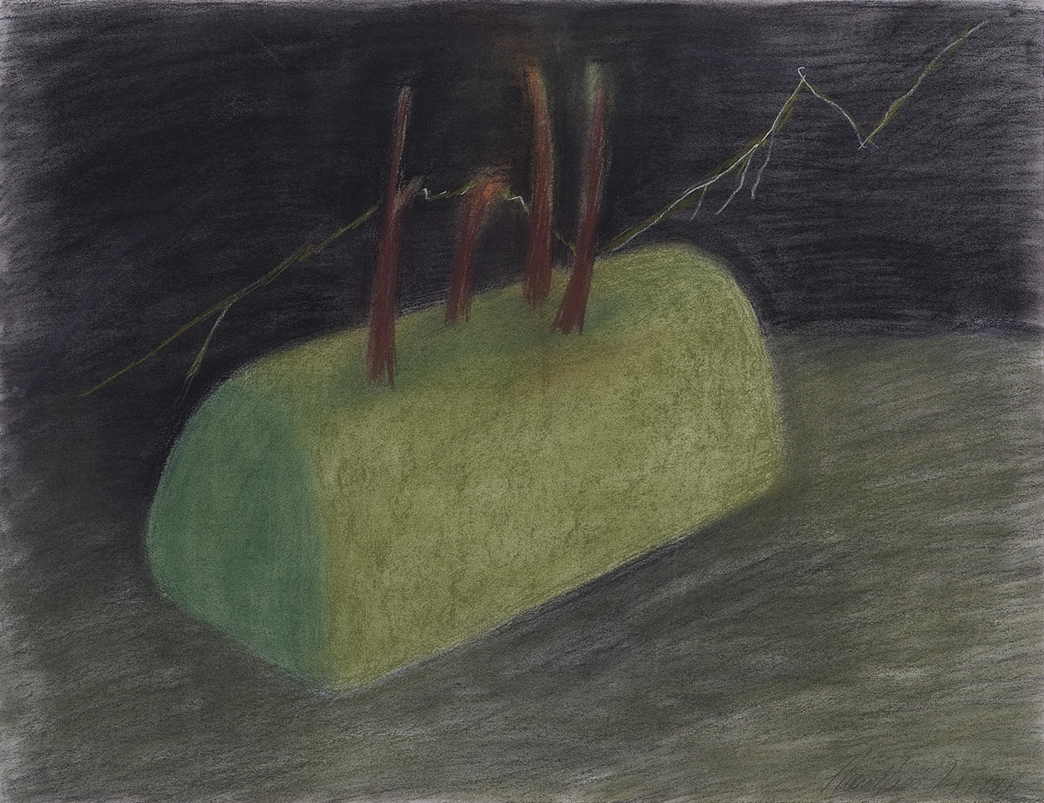 o. T. (Thunderstorm with Hedge) | 1990 | Zeichnung | 50 x 64,5 cm